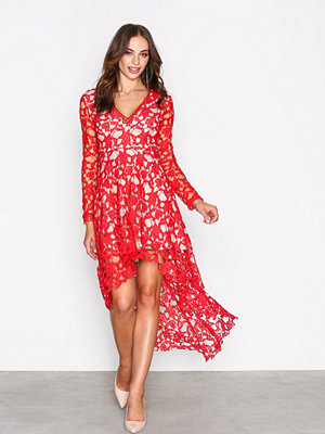 Love Triangle Opulent Dress Red