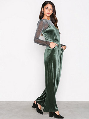 Jumpsuits & playsuits - Only onlMILA Velvet Jumpsuit Tlr Grön