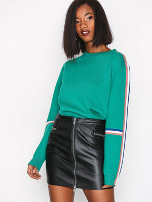 Only onlTRACEY Faux Leather Skirt Otw Svart