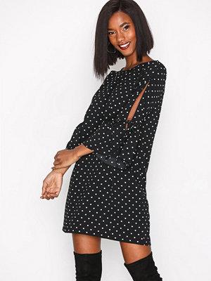 New Look Polka Dot Tunic Dress Black