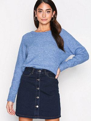 Vero Moda Vmmaya A-Shape Short Denim Skirt Sh Mörk Blå