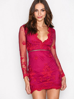 Love Triangle Silent Night Mini Dress Raspberry