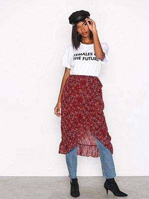 Vero Moda Vmcamille Hw Blk Skirt FD17 Mörk Röd