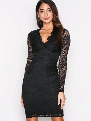 NLY One Plunge Lace Bodycon Svart