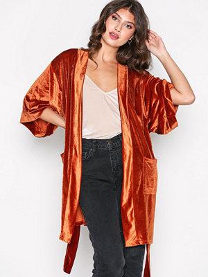 NLY Trend Velvet Solid Set Jacket Rostbrun