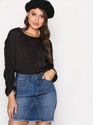 Vero Moda Vmlana Nw Washed Panel Short Skirt Blå