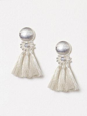 New Look örhängen Metallic Tassel Earrings Silver