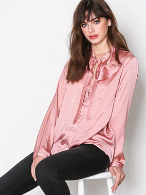 Only onlSILA L/S Ruffle Shirt Wvn Ljus Rosa