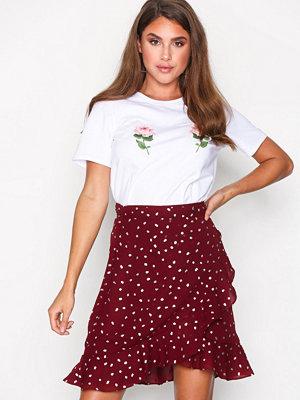 Vero Moda Vmhenna Dot Foil Wrap Skirt Exp Mörk Lila