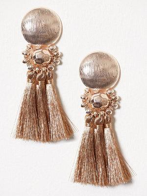 New Look örhängen Metallic Tassel Earrings Gunmetal
