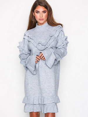 River Island Frill Dress Grey