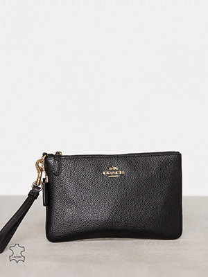 Coach svart kuvertväska Polished Pebble Small Wristlet
