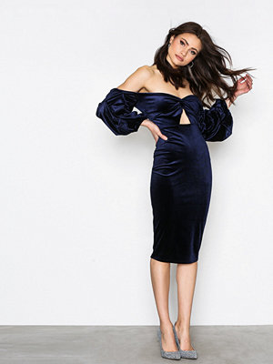 NLY One Bandeau Luxe Dress Navy