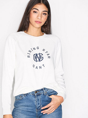 Gant OP2. Gant Rising Star C-Neck Sweat Eggshell