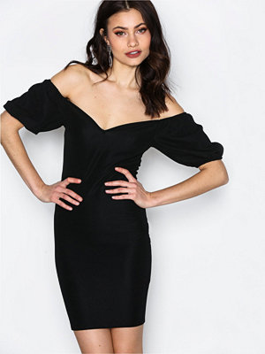 NLY One Puff Sleeve Dress Svart