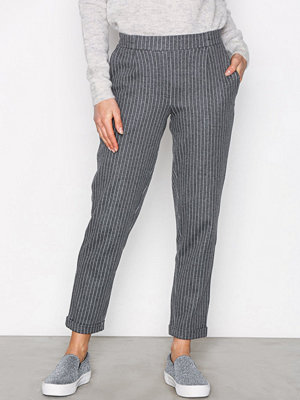 Only byxor onlTAMI Pinstripe Pull Up Pants Tlr Mörk Grå