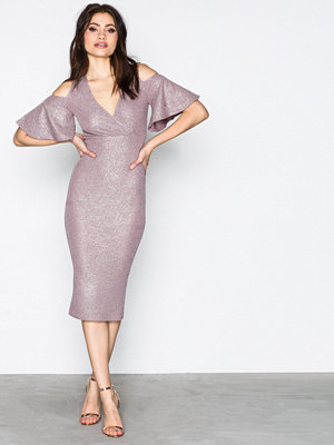 NLY One Wrap Bust Midi Dress Taupe