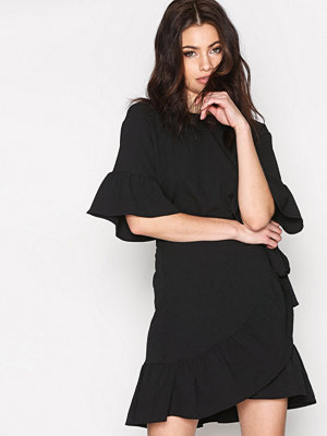 Vero Moda Vmcita Ss Bobble Wrap Dress He Svart