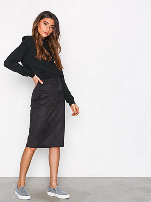 River Island Pencil Suedette Skirt Black