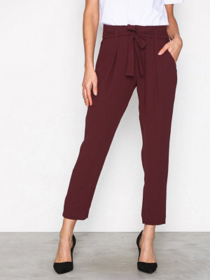 River Island omönstrade byxor Soft Tapered Trousers Ox Blood
