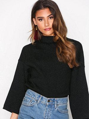 Object Collectors Item Objindra T-Neck Knit Lurex Pullover Svart
