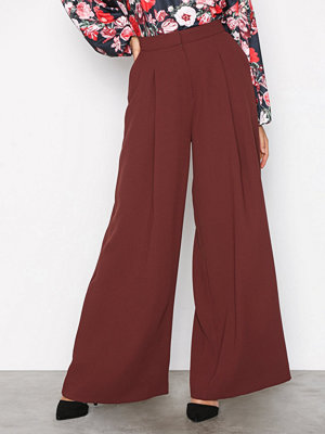 River Island vinröda byxor Wide Leg Trousers Brown