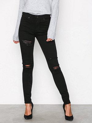 Topshop Rip Leigh Jeans Black