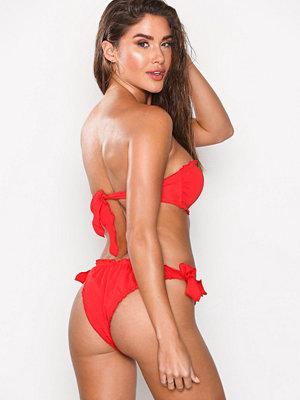 NLY Beach Ruffle Tie Panty Röd