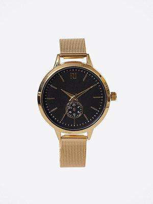Klockor - River Island Dial Mesh Watch Metallic Gold