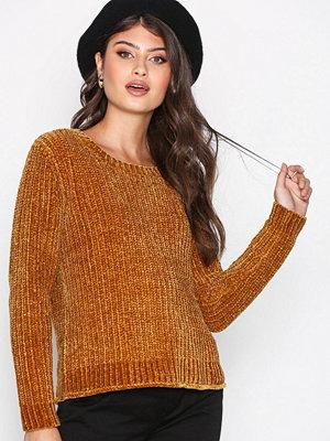 Jacqueline de Yong Jdymine L/S Cropped Pullover Knt Mörk Brun