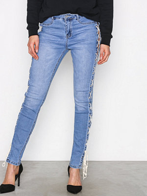 Missguided Sinner High Lace Side Blue
