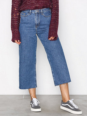 New Look Wide Leg Rip Jeans Blue