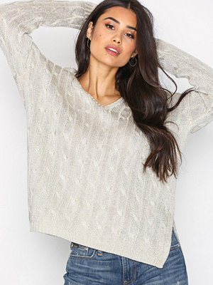 Polo Ralph Lauren V-Neck Long Sleeve Sweater Taupe