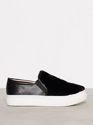 Topshop Faux Fur Slip On Sneaker Black