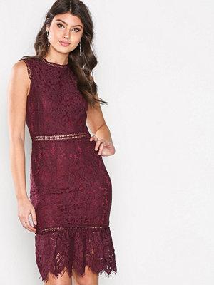 Ax Paris Lace Dress Plum