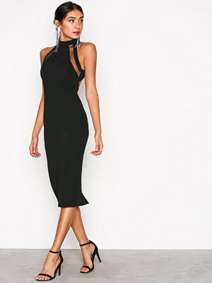 Ax Paris Turtle Neck Strap Dress Black