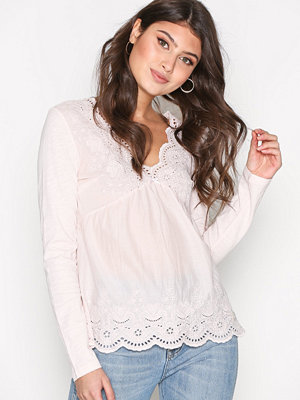 Odd Molly Time Flies L/S Top Soft Rose