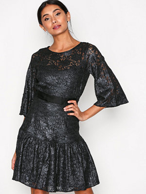 Closet Lace Frill Hem Dress Dark Grey