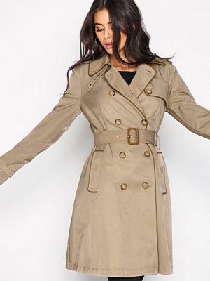 Lauren Ralph Lauren DB Trench Coat Beige