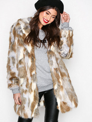 Fuskpälsjackor - River Island Fur Jacket Neutral