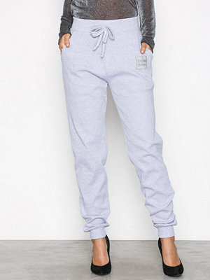Missguided omönstrade byxor Cuff Hem Ribbed Joggers Grey