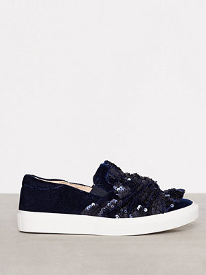 Topshop Twisted Sequin Sneaker Navy