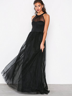NLY Eve Mesh Bow Gown Svart