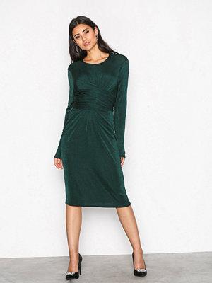 NLY Trend Glamorous Tie Waist Dress Mörk Grön