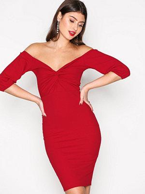 NLY Trend Belle Sleeve Dress Röd