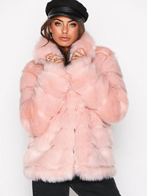 NLY Trend Puffy Fur Coat Rosa