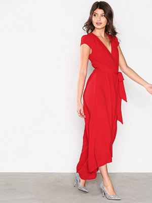 Ax Paris Long Wrap Dress Red