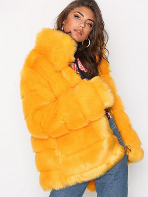 NLY Trend Puffy Fur Coat Gul