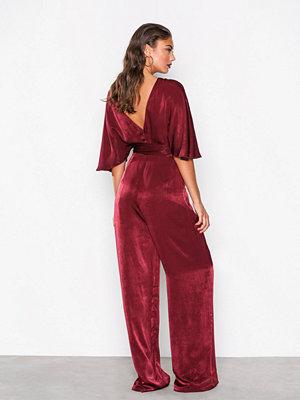 NLY Eve Kimono Sleeve Jumpsuit Burgundy
