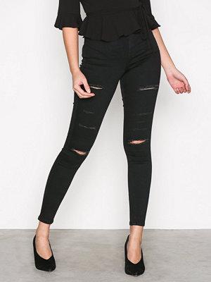 Topshop Moto Super Rip Joni Jeans Black